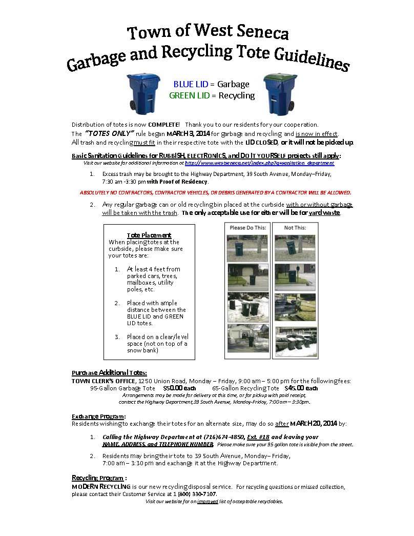 Sanitation Department :: West Seneca